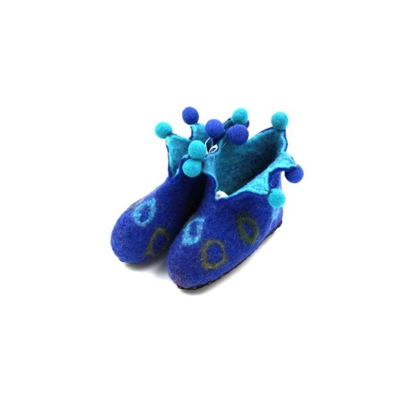 Pantoufles lutin bleu 20