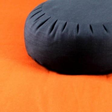 Zafu noir et zabuton orange