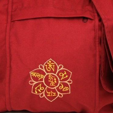 Sac moine bouddhiste rouge Mantra