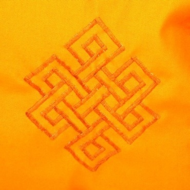 Sac tibétain jaune noeud éternité