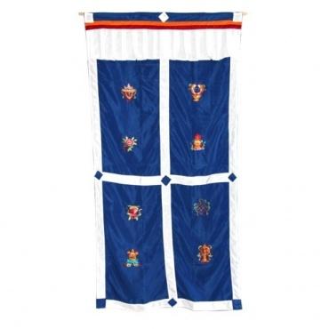 Porte tibétaine auspicieux rouge