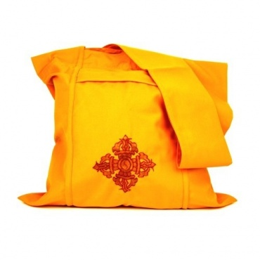 Sac moine tibétain jaune Vajra