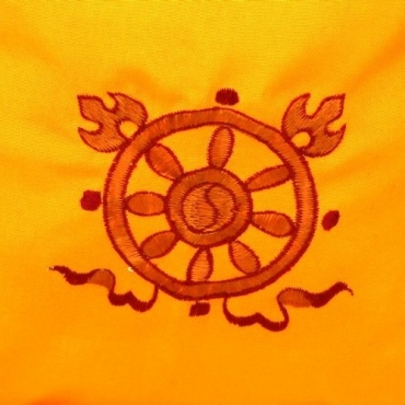 Sac moine tibétain dharma jaune