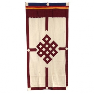 Porte tibétaine noeud sans fin