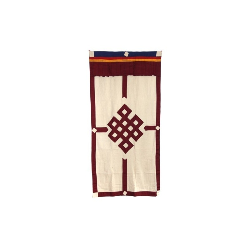 tenture de porte tib taine noeud sans fin rouge toit du monde. Black Bedroom Furniture Sets. Home Design Ideas