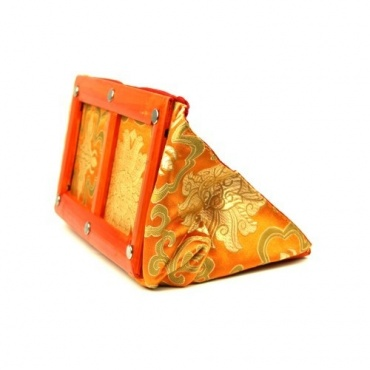 Porte-document en tissu orange
