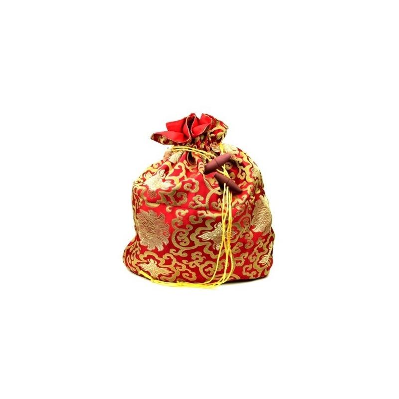 Sac bol chantant Tibétain rouge or