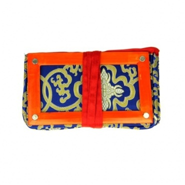 Porte-document en tissu bleu