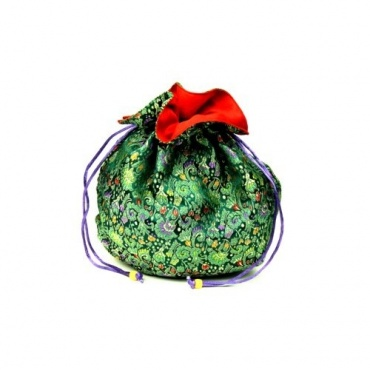 Sac en soie tibétaine vert