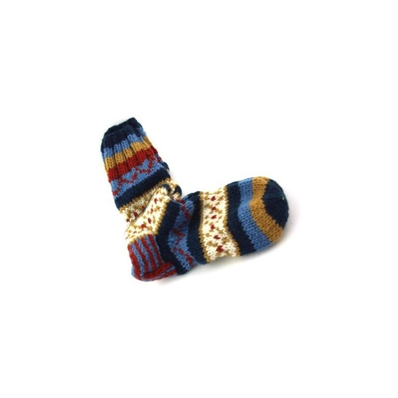 Chaussette en laine multicolore