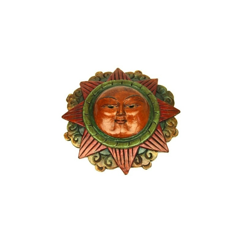 Masque soleil traditionnel tibétain