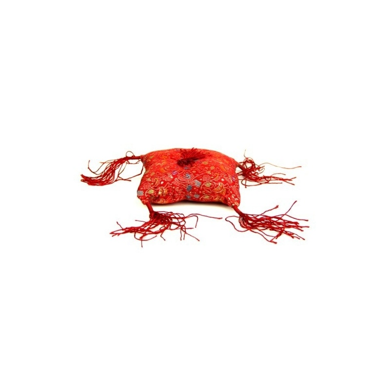 Coussin bol tibétain rouge