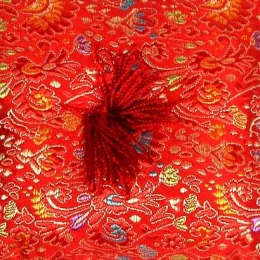 Coussin bol tibétain rouge