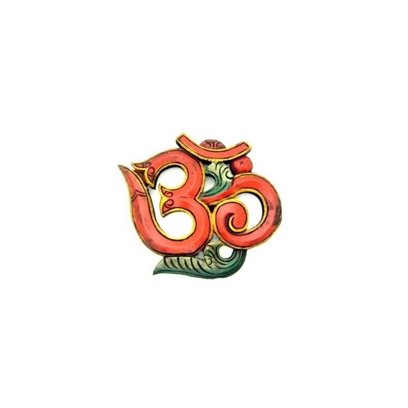 OM - AUM népalais rouge syllabe germe de l'Univers