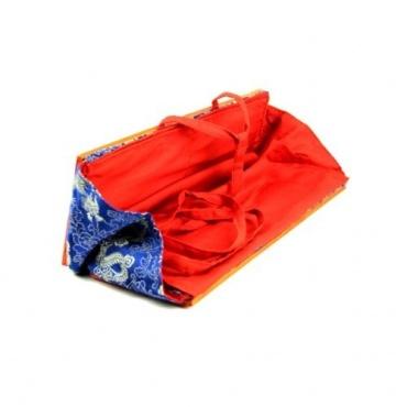 Protège livre tibétain bleu