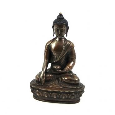 Bouddha Lotos Steinguss 4,5 kg 40 cm PIERRE BOUDDHA personnage sculpture est assis avec coque