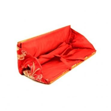 Porte texte - protège livre tibétain rouge