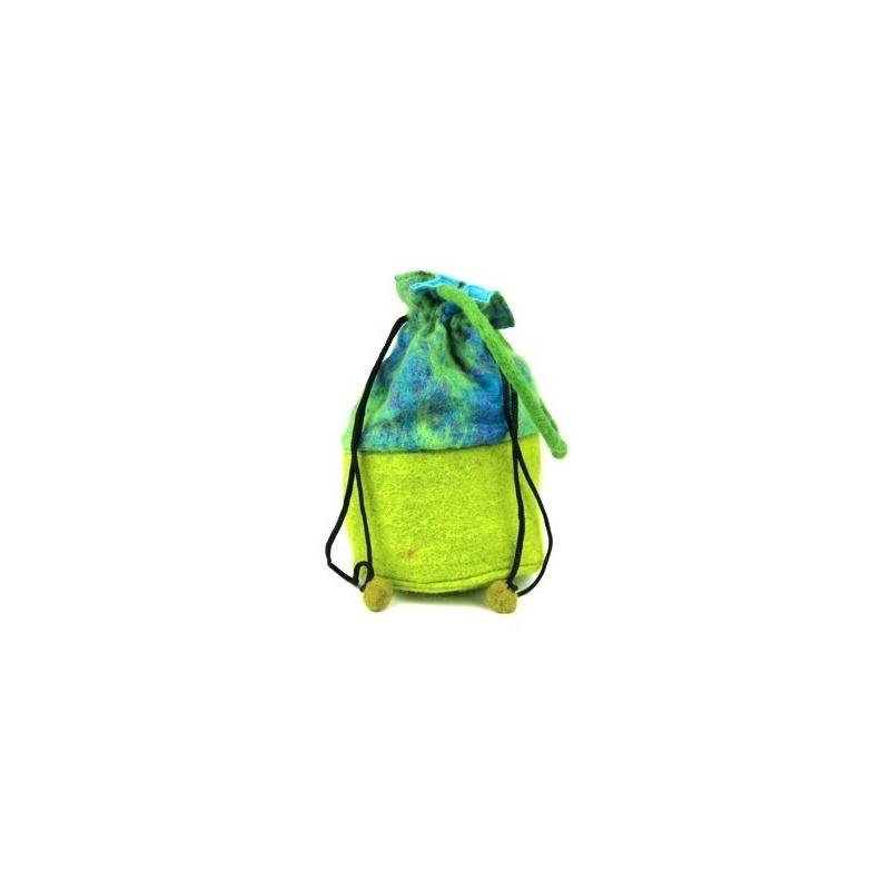 Petit sac - bourse citron bleu