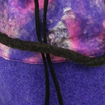 Petit sac - bourse violet rose