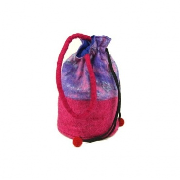 Petit sac - bourse rose mauve