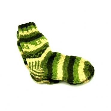 Chaussettes en laine vertes