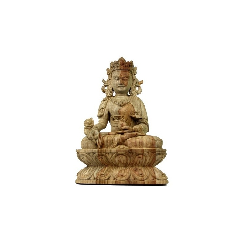 Statue Bouddha Médecine Bois