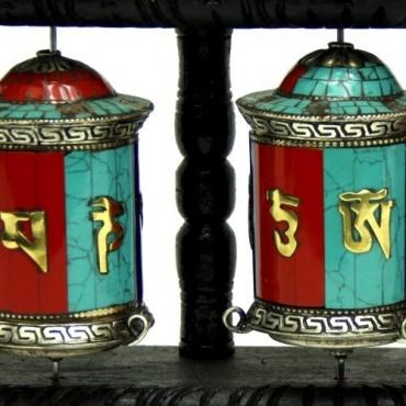 3 Moulins prières tibétains