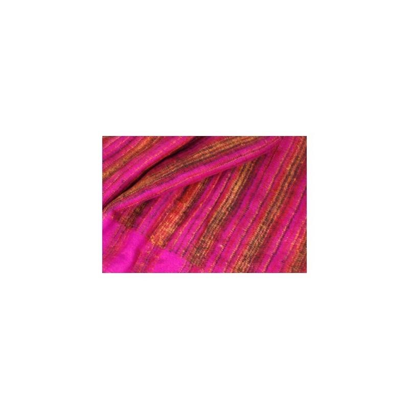 Couverture châle rose