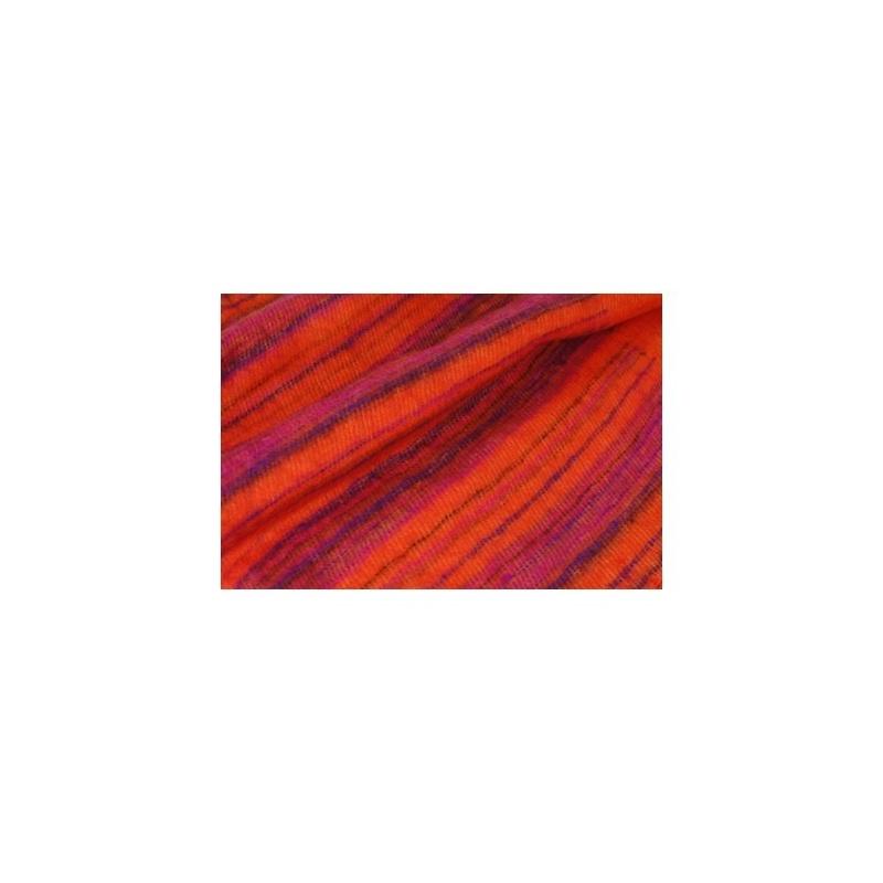 Couverture châle orange