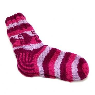 Chaussettes en laine rose 38-40