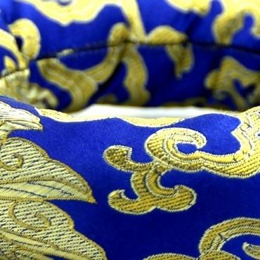 Anneau coussin bleu bol chantant tibétain