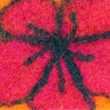 Pochette en laine fuchsia