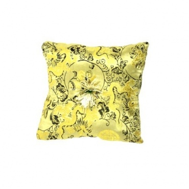 Coussin bol chantant or