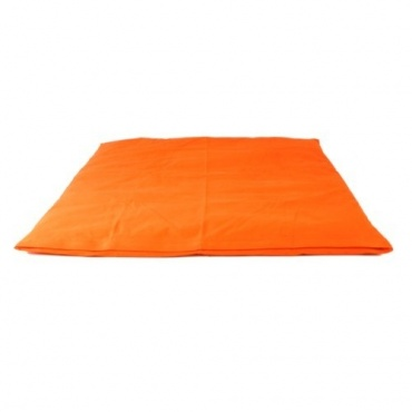Coussin méditation carré orange vif