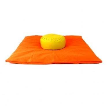 Zabuton et Zafu orange tilleul