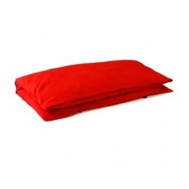 Coussin de méditation carré rouge