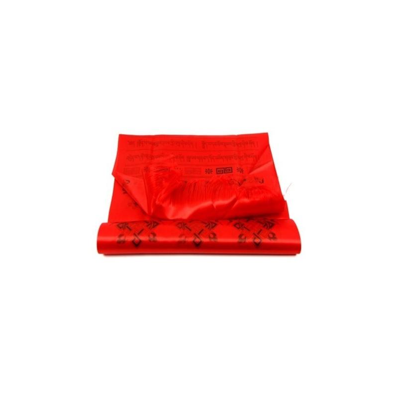 Echarpe de Félicité Khata rouge