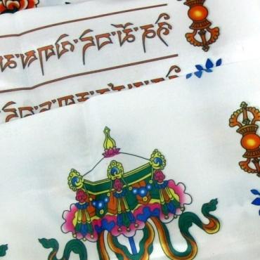 Echarpe de Félicité Khata blanche