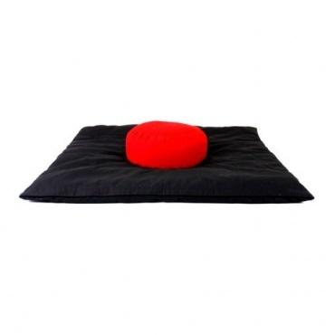 Zabuton Noir et Coussin méditation Rouge