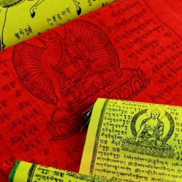Drapeaux de prières tibétains Extra qualité S