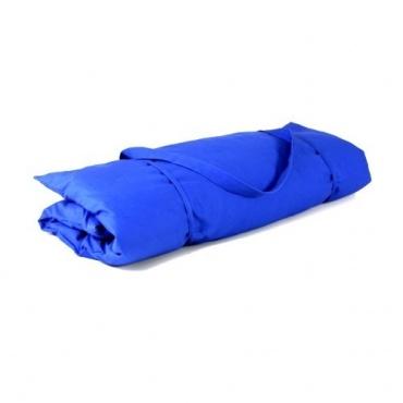 Zabuton bleu et Coussin Tilleul