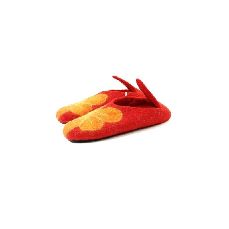Pantoufles rouge 42