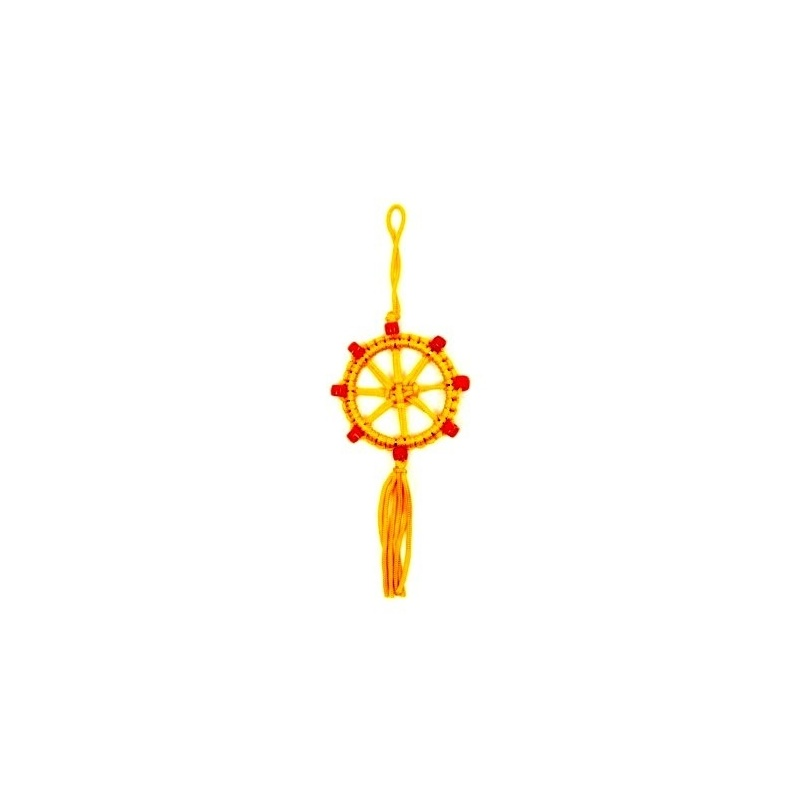 Porte-Bonheur bouddhiste jaune