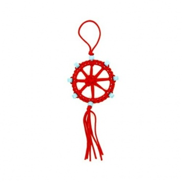 Porte-Bonheur Dharma bouddhiste rouge
