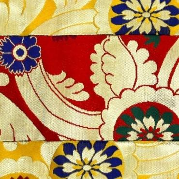 Napperon autel rouge jaune