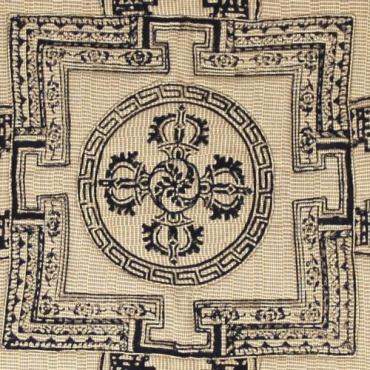 Housse de Coussin Mandala beige