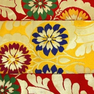 Napperon autel jaune rouge