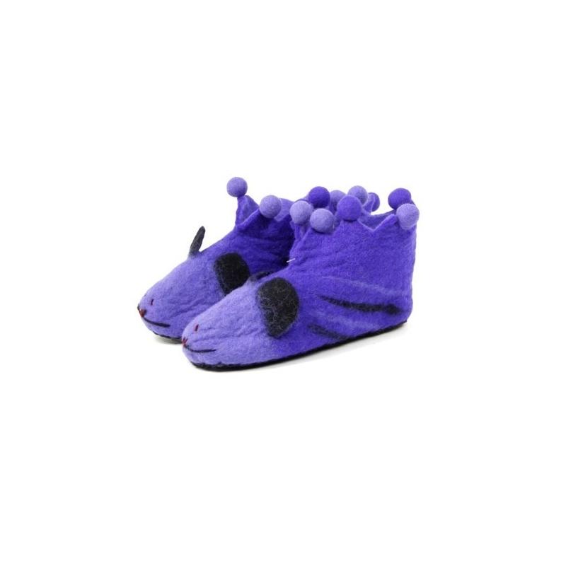 pantoufle originales violette 38 toit du monde. Black Bedroom Furniture Sets. Home Design Ideas