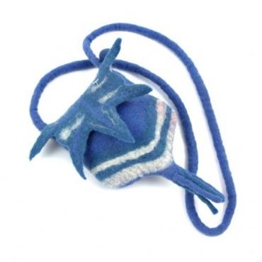 Mini-sac en laine bleu