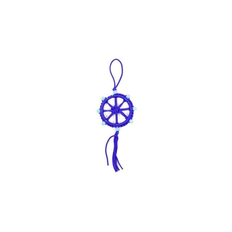 Porte-Bonheur Dharma bouddhiste bleu